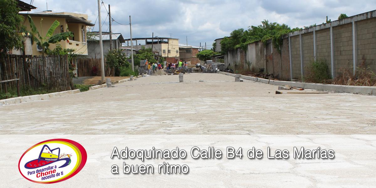 Adoquinado Calle B4 de Las Marías a buen ritmo