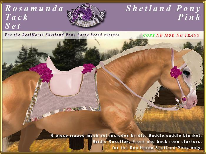 E-RH-Shetland-RosamundaSaddleSet-Pink - TeleportHub.com Live!
