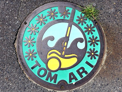 Tomari Tottori, manhole cover (鳥取県泊村のマンホール)