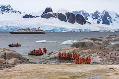 Landing on Peterman Island, Antarctica