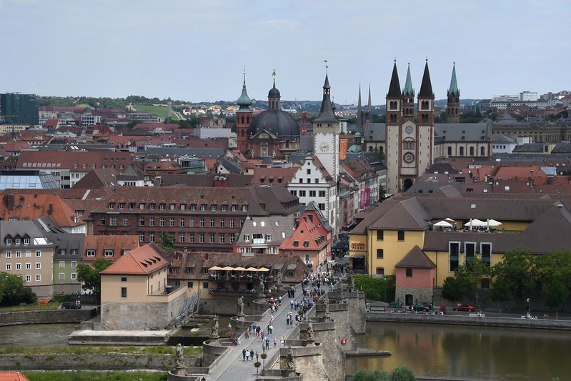 Blick auf Würzburg von der Festung Marienberg