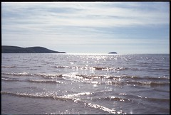 Kodak Retina IIS - Sunlit ripples at Weston Super Mare