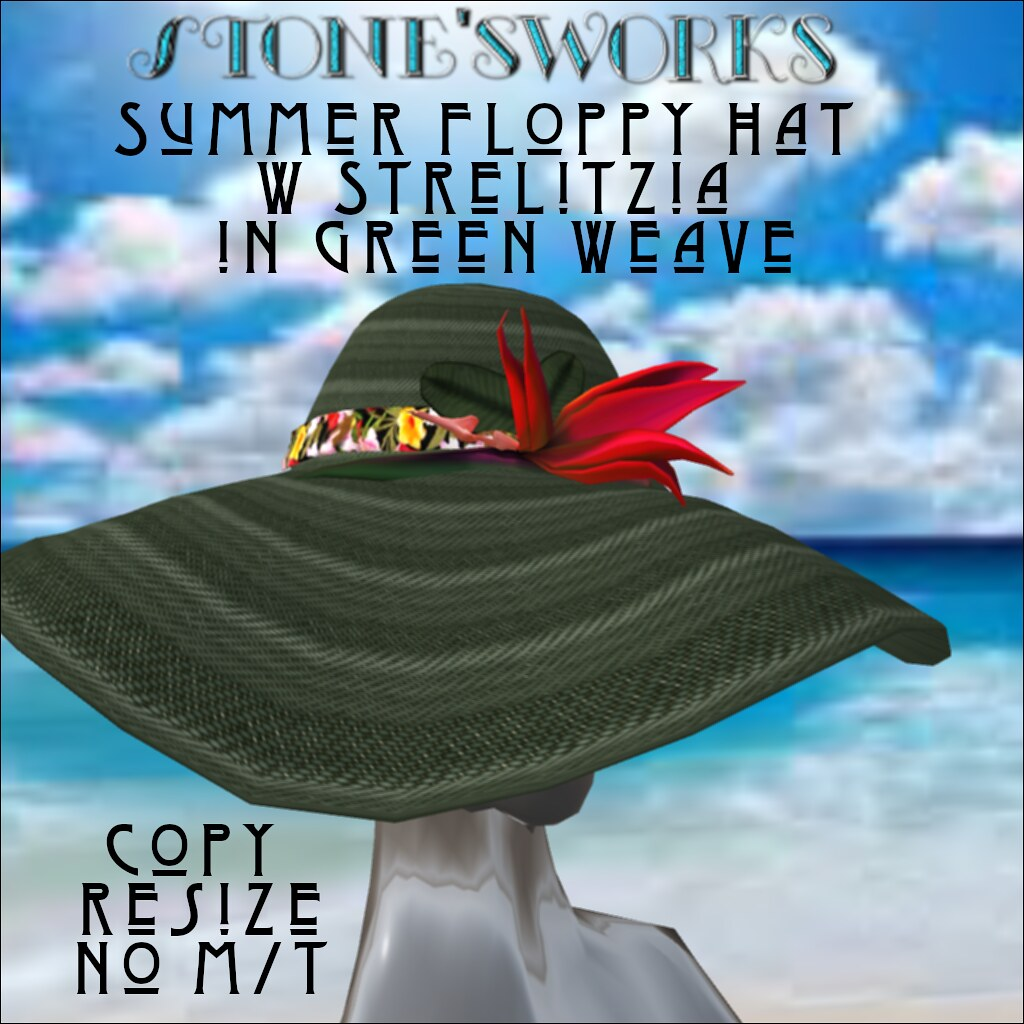 Summer Floppy Hat in Grn Wv Strelitzia Stone's Works - TeleportHub.com Live!