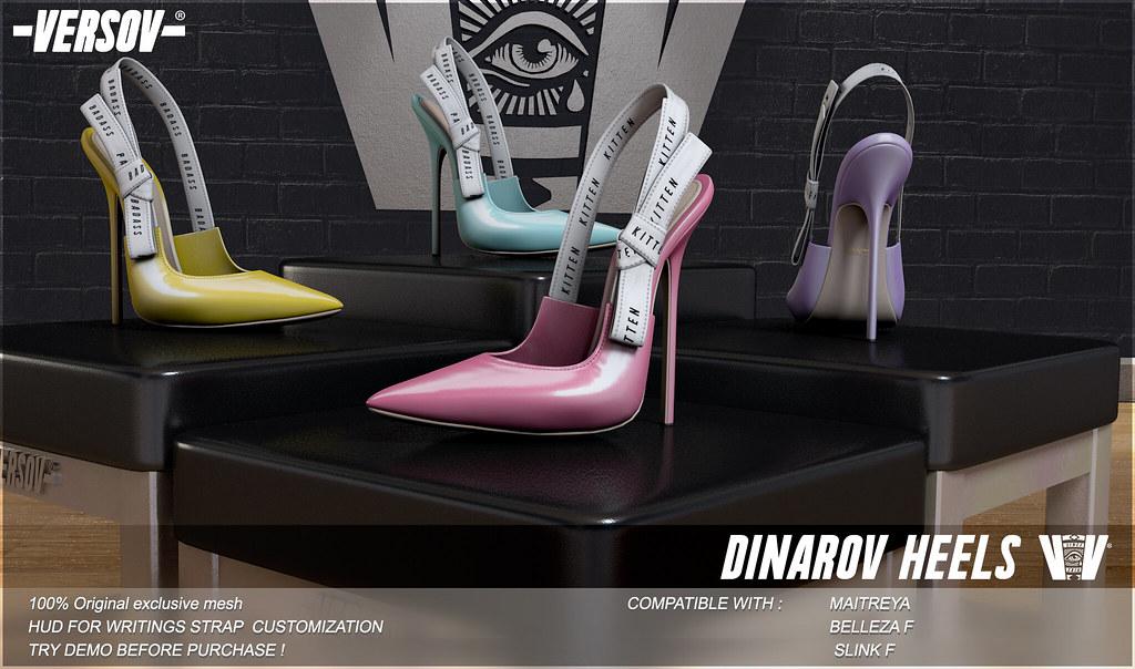 [ Versov //] DINAROV heels available at Equal10 - TeleportHub.com Live!
