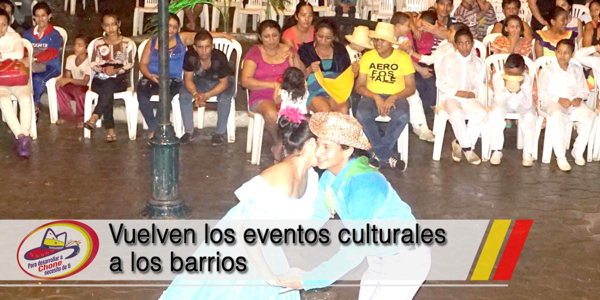 Vuelven los eventos culturales a los barrios