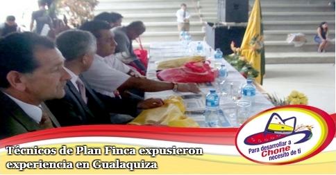 Técnicos de Plan Finca expusieron experiencia en Gualaquiza