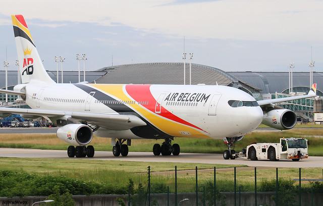 Air Belgium Airbus A340-313 OO-ABA / CDG