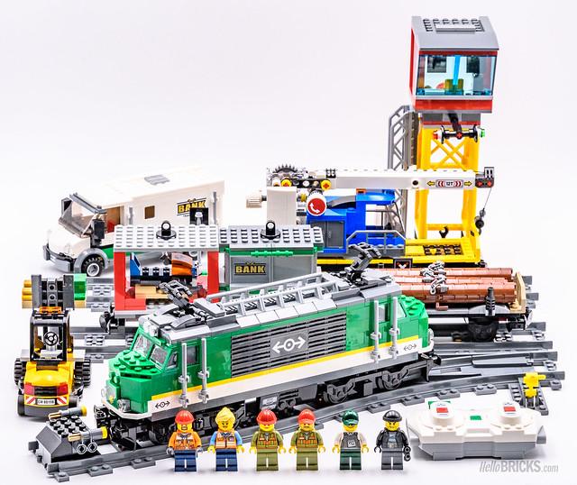REVIEW LEGO City 60198 Cargo Train Powered Up