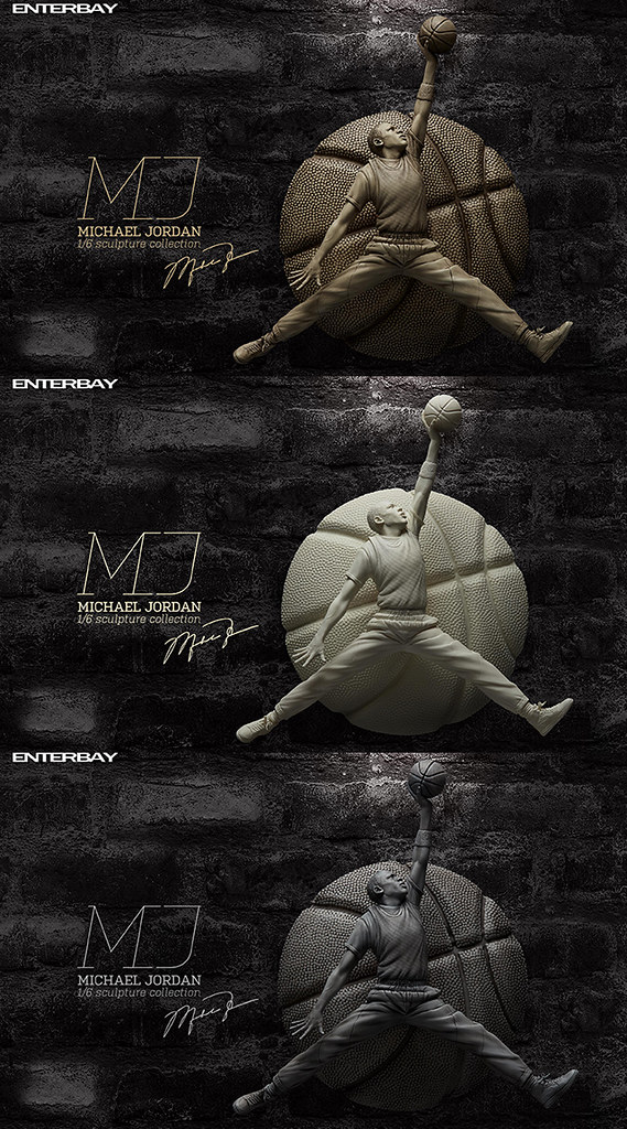 ENTERBAY 籃球之神【麥可·喬丹】Michael Jordan 1/6 比例全身雕像作品 象牙白/石膏/石雕 三色同步登場!