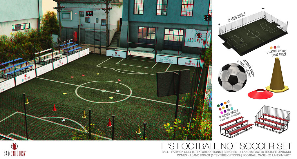 NEW! It's Football NOT Soccer Set @ FaMESHED - TeleportHub.com Live!