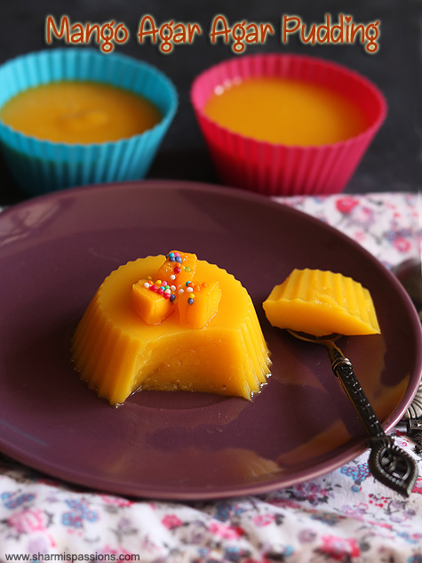 mango agar agar pudding recipe