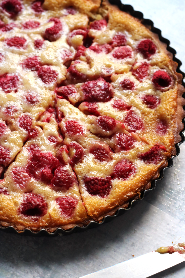 Baked Brown Butter Raspberry Tart