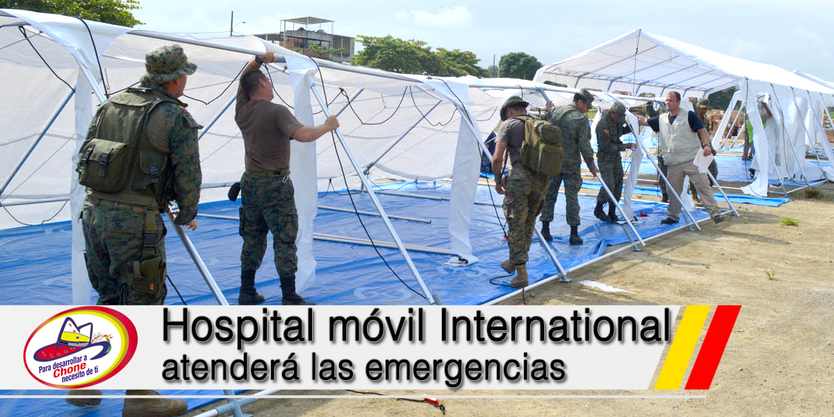 Hospital móvil International atenderá las emergencias