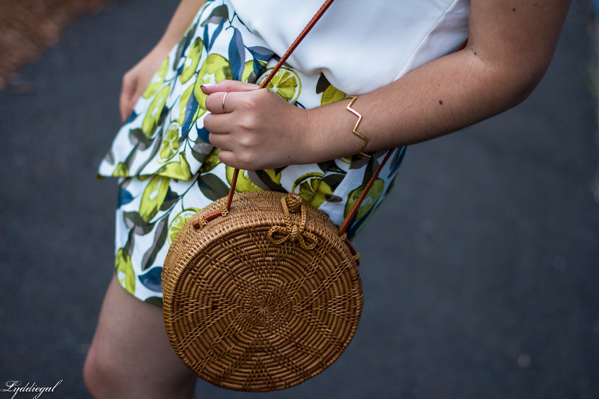 Lemon print skort, scalloped cami, round straw bag, ferragamo slides-6.jpg