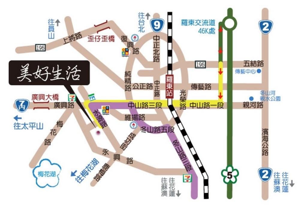 Beautiful Life Hostel Map