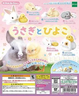 Epoch 療癒又可愛「兔子與小雞」轉蛋作品!うさぎとひよこ