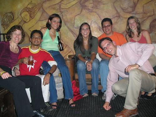 Friends and my first Michelada in Guanajuato, Mexico