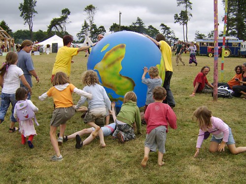 Kids with the Earth at the Big Green Gathering