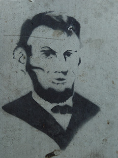 Sidewalk Stencil: Abraham Lincoln