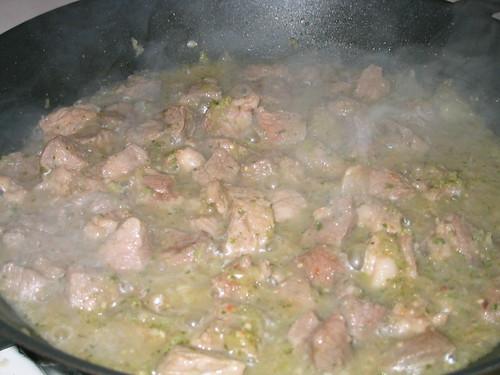 Pork + salsa verde = pork in salsa verde