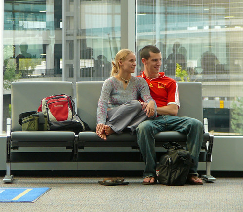 Couple At the Detroit airport