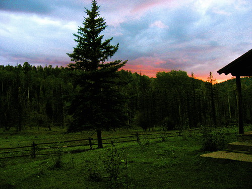 sunset usa mountain newmexico clouds forest evening dusk buddhist buddhism retreat zen wilderness refuge carsonnationalforest prajnamountainforestrefuge roshijoanhalifax
