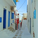 Lane in Mykonos, Greek Isles