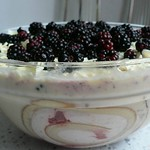 White chocolate &a blackberry trifle