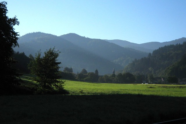 Günterstal landscape with mountains
