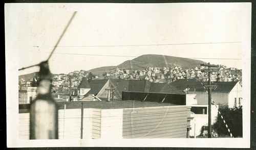 Bernal Heights and Milk Bottle June 5, 1921