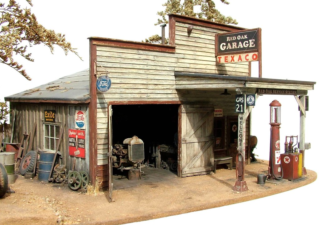 Old Service Garages : Photos of amazing model dioramas smokstak