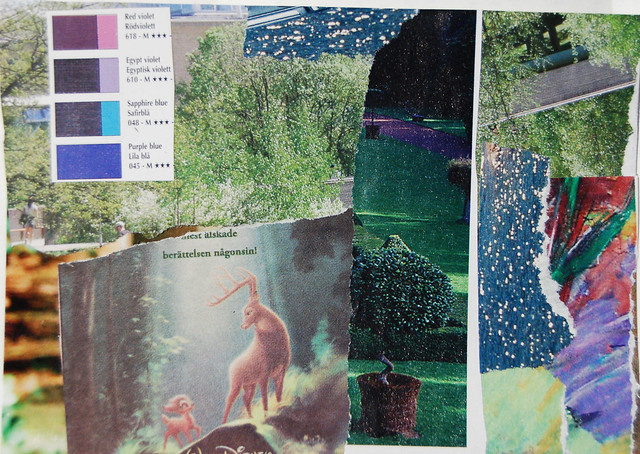 Collaged postcard