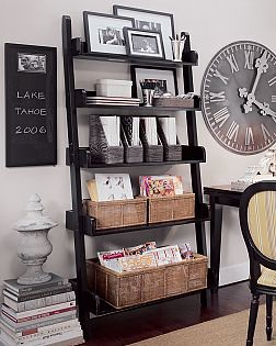 pottery barn ladder shelf flickr photo sharing. Black Bedroom Furniture Sets. Home Design Ideas