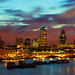 View towards the City of London at Dawn by kayodeok