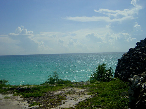view of sea from ruins