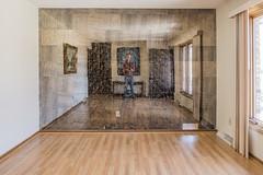 Self Portrait on Mirrored Wall