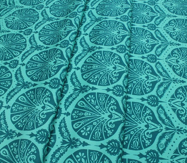 Art Gallery Fabrics Decadence Coquille Damask Teal