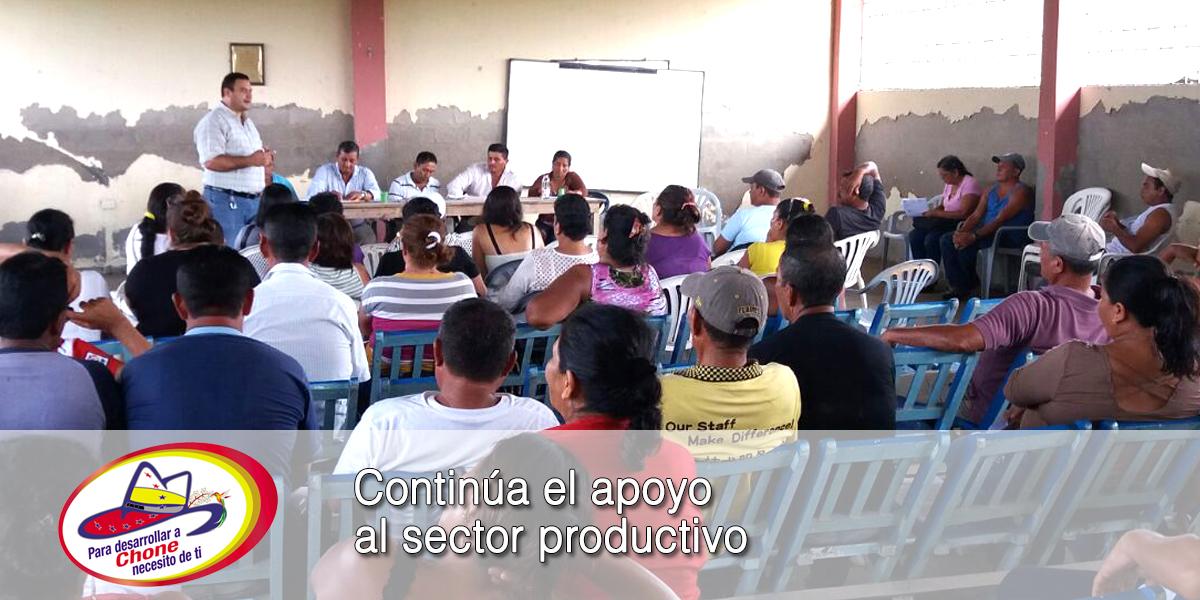 Continúa el apoyo al sector productivo