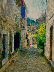 "Corfu 28 ""Side Street"""