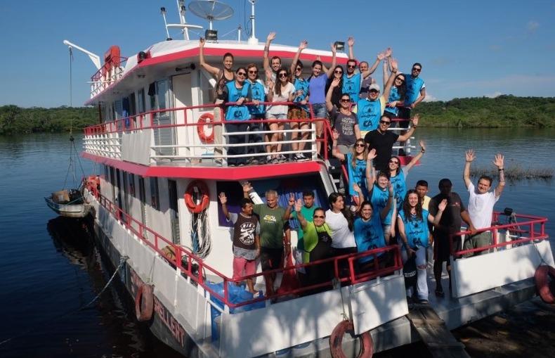 Band escala repórter da RBA para acompanhar barco de saúde de SP no Arapiuns, Barco da Saúde