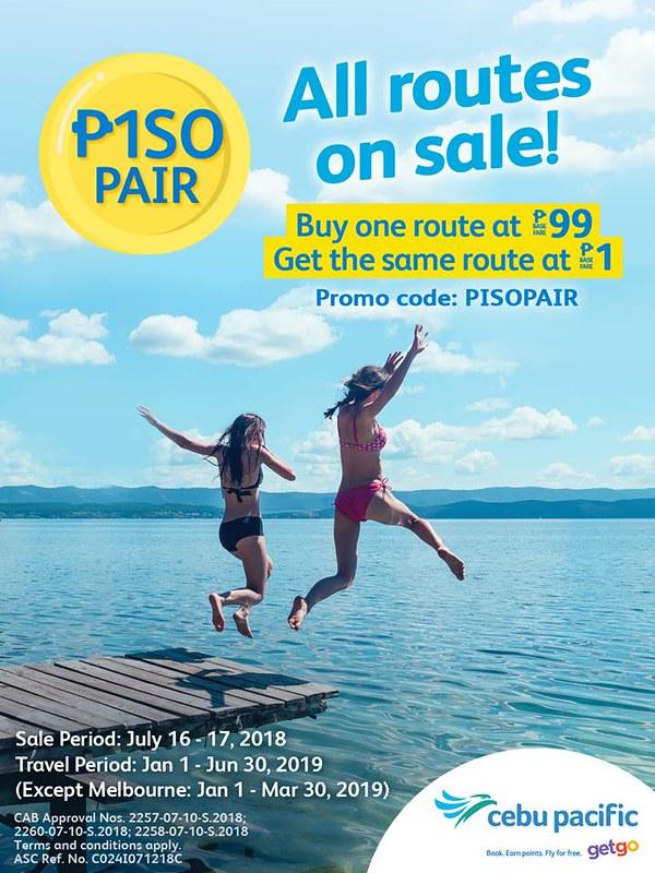 Cebu Pacific Piso Pair Promo
