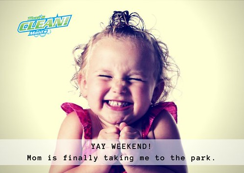 They say raising kids is like a walk in the park. But the park is on fire! ♨️ - and this is exactly why we exist. YOU NEED BACKUP! Spend your time with your kid, the housecleaning is ours to do! 🙅‍♀️ #heyweekendlover #familytime #maidser