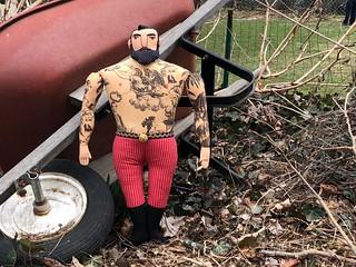 Big Man with Angel Tattoo