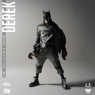 決心奪回鎂光燈焦點的黑色蝙蝠!! J.T Studio Steert Mask 系列【Derek】1/6 比例可動人偶作品