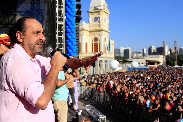 Prefeito Alexandre Kalil participa da 21ª Parada LGBT de Belo Horizonte