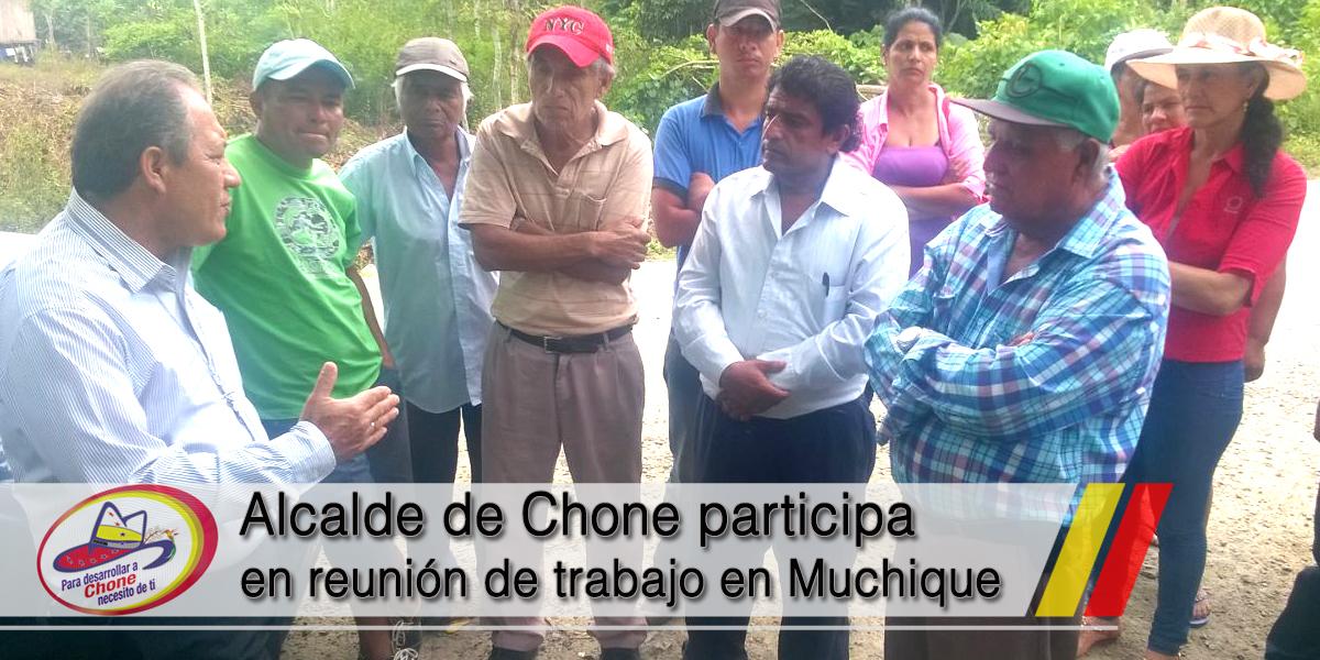 Alcalde de Chone participa en reunión de trabajo en Muchique