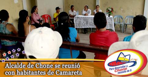 Alcalde de Chone se reunió con habitantes de Camareta