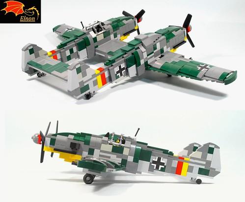 Bf-109Z side rear views