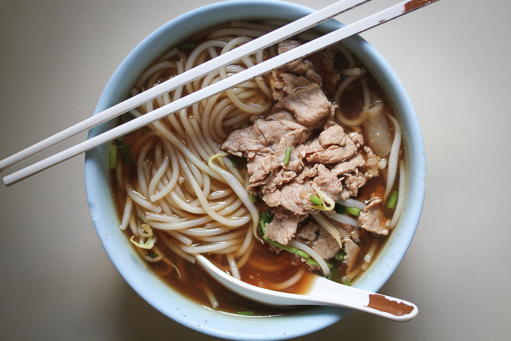 Toa Payoh Hwa Heng Beef Noodle Beef Noodle Soup (Top down)