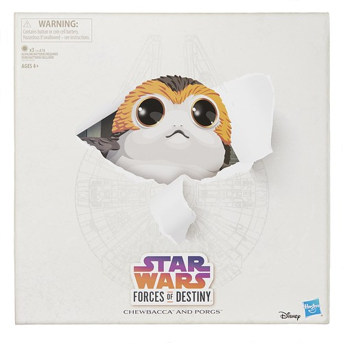 SDCC Exclusive Star Wars Forces of Destiny Chewbacca and Porg